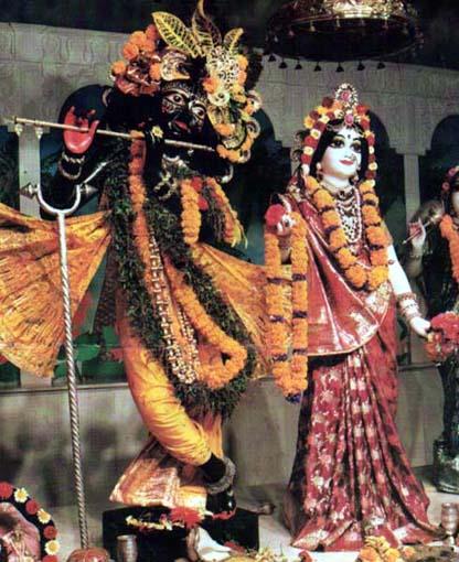 ... Arati To Their Lordships Sri ri Radha Madhava (at Sri-dham Mayapur